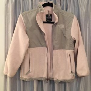 Girl's Soft Pink and Gray North Face Jacket; Sz M